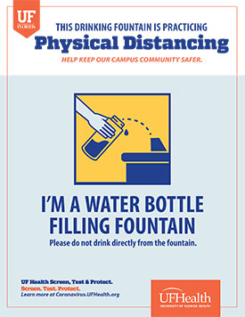 Drinking Fountain Signage Example