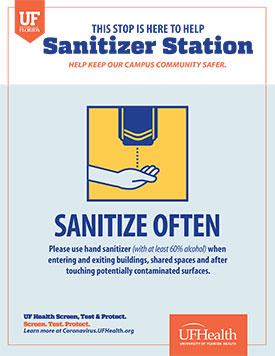 Example of Sanitizer Station signage