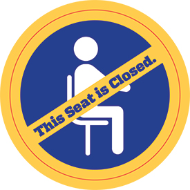 Library Seating Decal Example