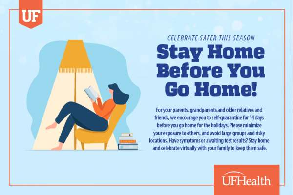 Graphic that says Stay Home Before You Go Home