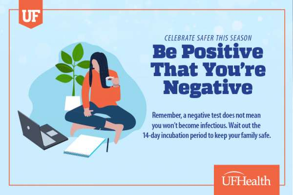 Graphic that says Be Positive That You're Negative!