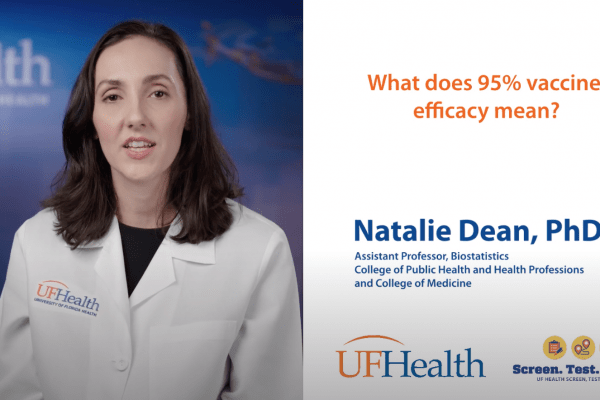 Screenshot of Natalie Dean video on vaccine efficacy