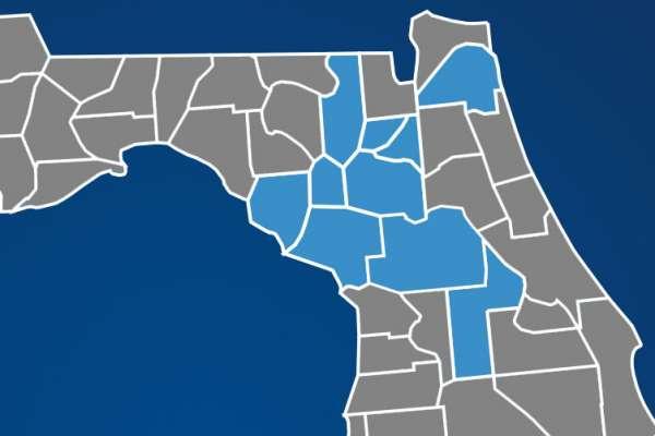 Map of North Florida